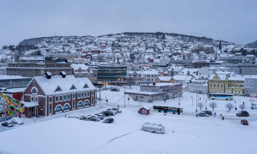 Harstad in winter