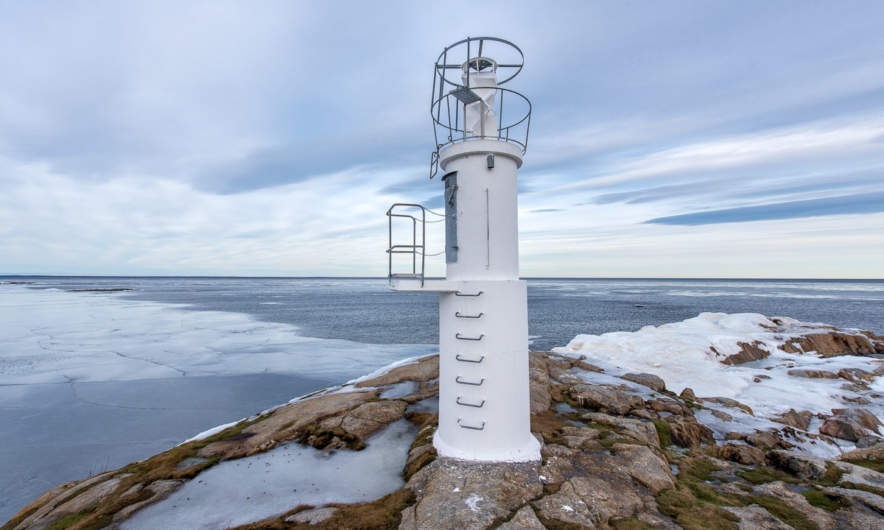 The lighthouse on the islet Kågnäshällan
