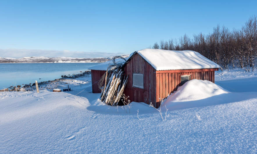 Old shed at the Lilla Karpbukt
