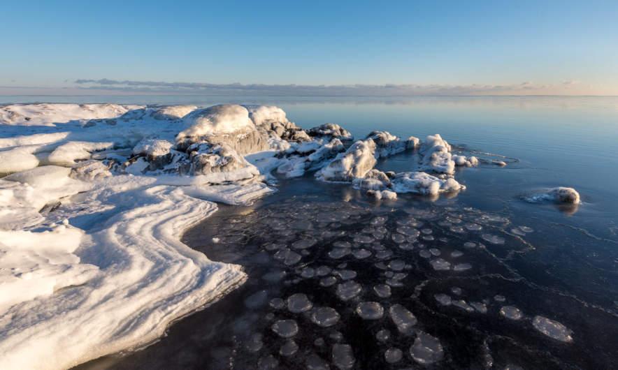 Ice waves and pancake ice