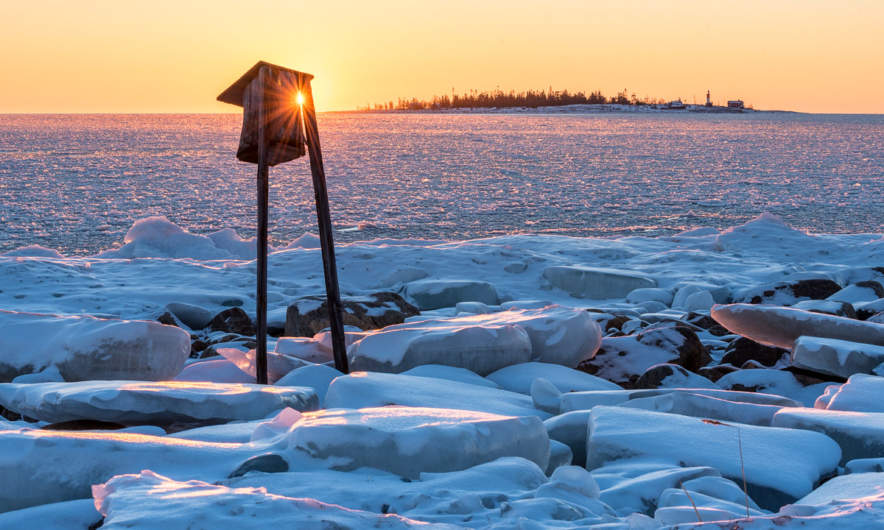Sunrise over the island Gåsören