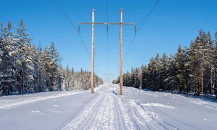 Kraftleden following the power line