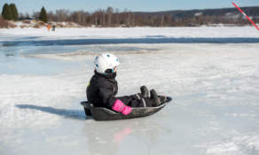 Child sledding I