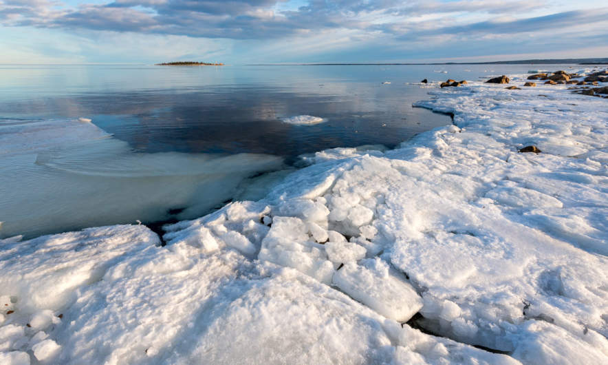 The Baltic Sea is almost free of ice