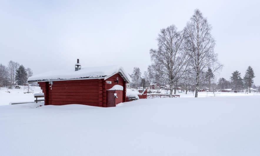 The sauna at Bureå Camping
