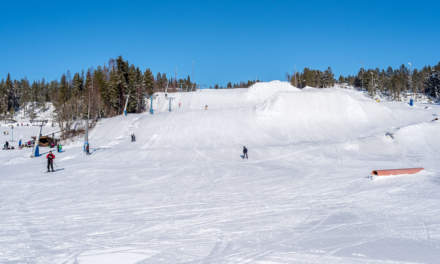 The ski slope of Vitberget in Skellefteå