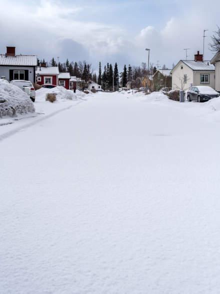 Fresh snow in Skelleftehamn