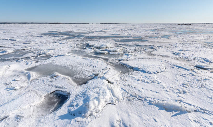 Ice covered Baltic Sea in mid-April