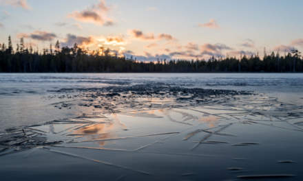 New ice on the lake Rudtjärnen