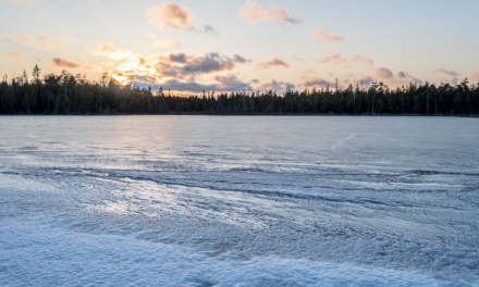 Old ice on the lake Rudtjärnen
