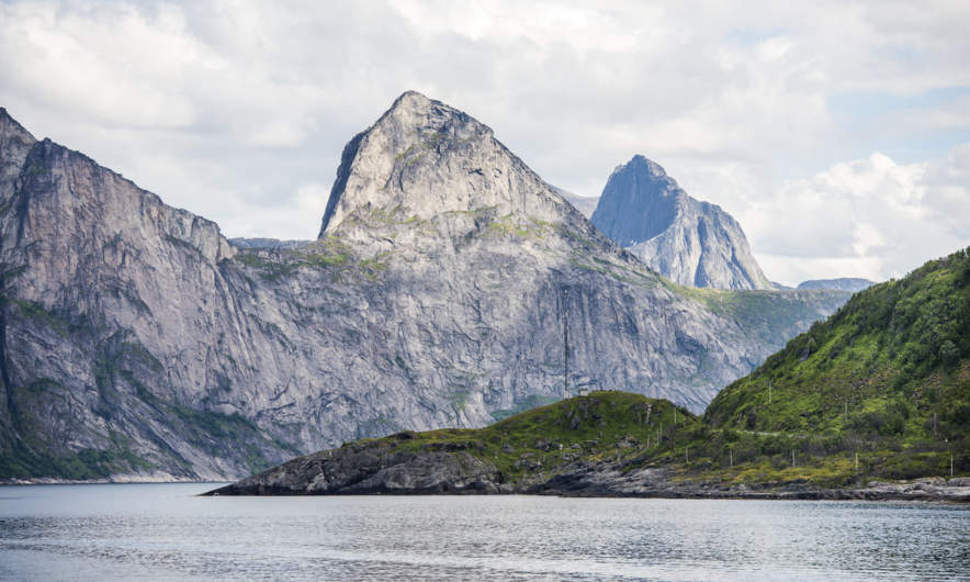 Mountain range on Senja