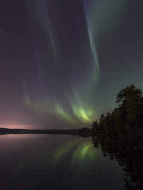 Aurora above the lake Snesviken I