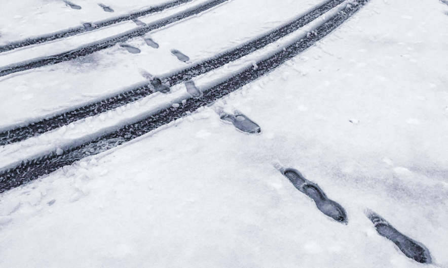 Snow tracks in Skellefteå