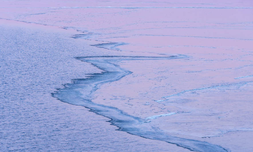 Purple ice edge