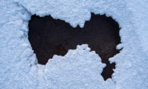 A hole in the ice