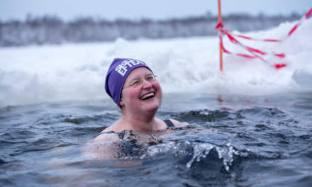 Winter swimmer Annika