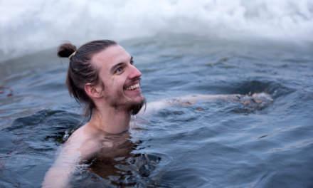 Winter swimmer Jesper