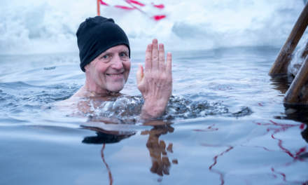 Winter swimmer Sture