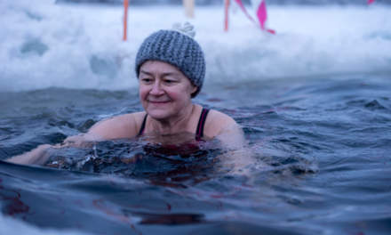 Winter swimmer Tiina