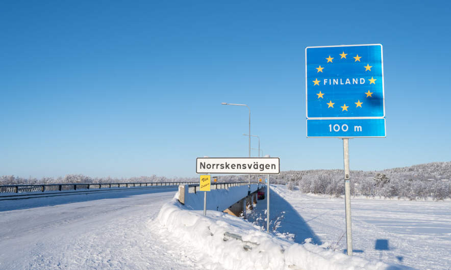 The border Sweden – Finland in Karesuando/Karesvanto