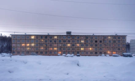 A large building in Pechenga (Печенга)