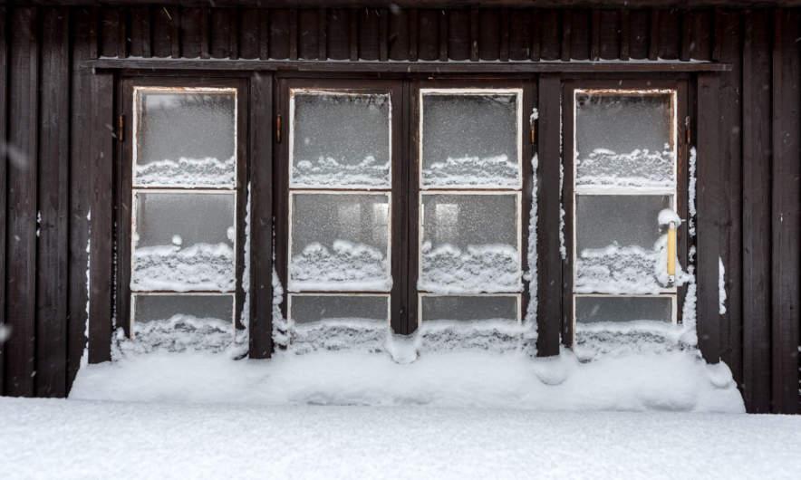 Snowed in window