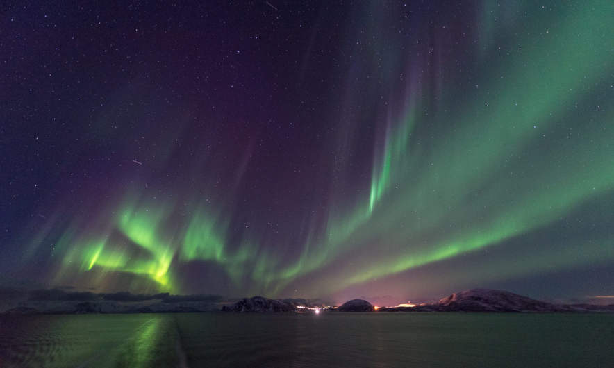 Aurora above the MS Nordnorge I