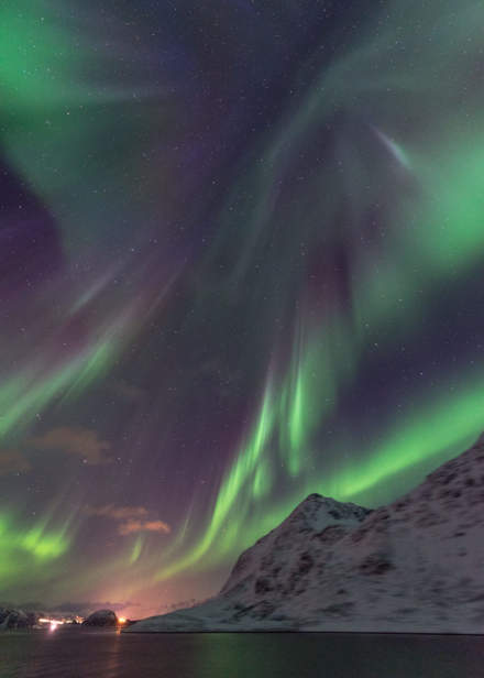 Aurora above the MS Nordnorge II