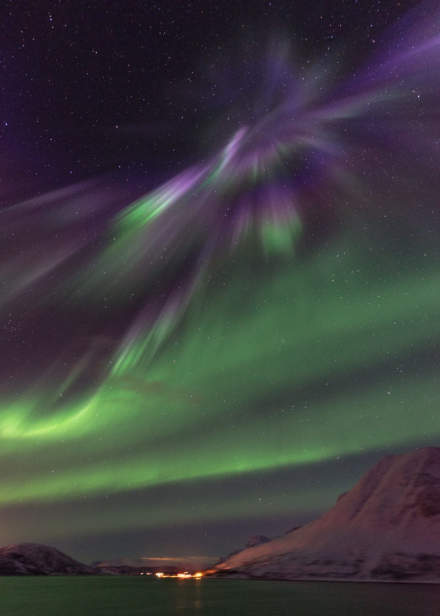 Aurora above the MS Nordnorge III