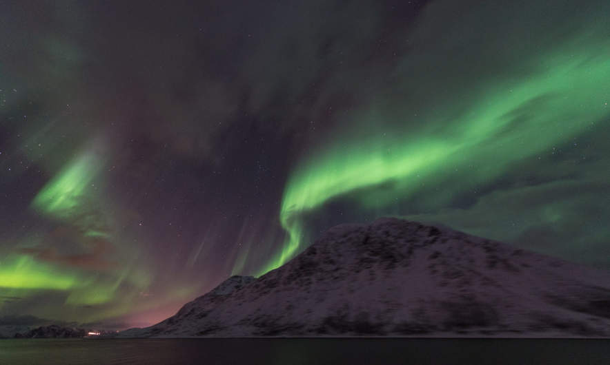 Aurora above the MS Nordnorge IV