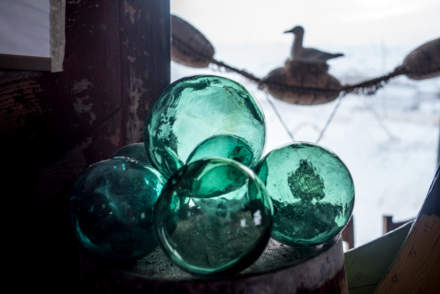 Buoys made from glass (replacing the old wooden one's)