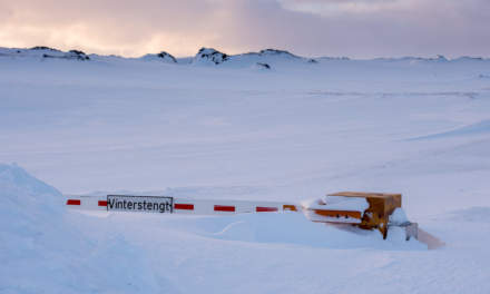 Closed road in wintertime I