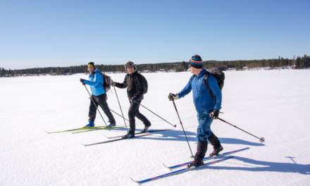 Skiing with Hans, Kenneth and Stefan (from left to right)