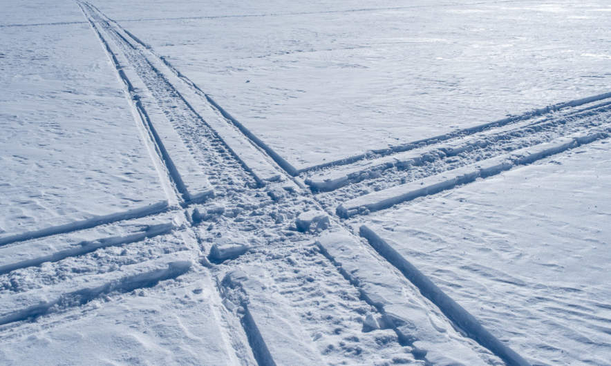 Snowmobile tracks I