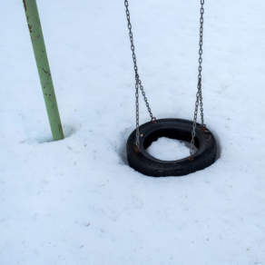 A swing in the snow