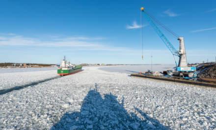 The ice star leaving Skellefteå Hamn III
