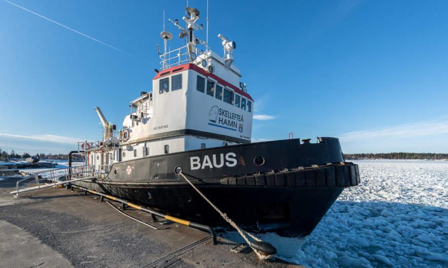 Baus, the icebreaker in Skelleftehamn