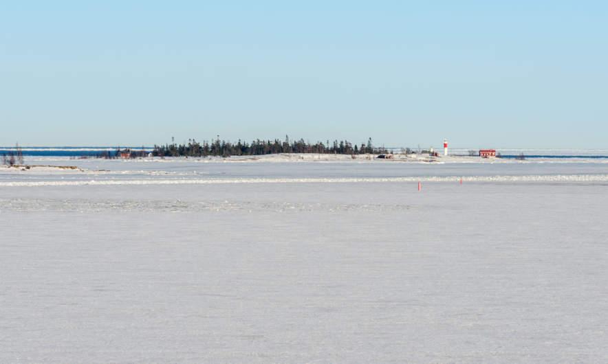 Open water behind the island Gåsören