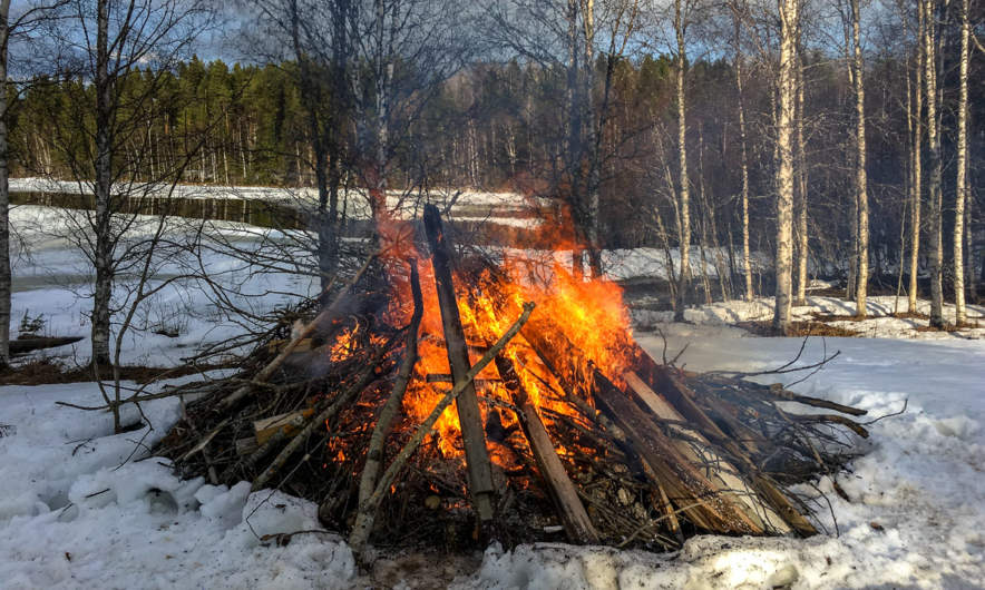 Bonfire in Bygdeträsk