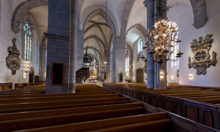 Inside the Visby cathedral