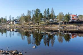The peninsula Kallholmen in Skelleftehamn