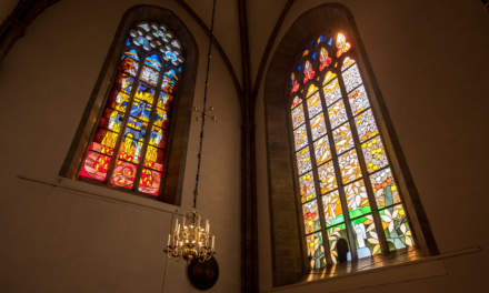 Stained glass in the Visby cathedral I