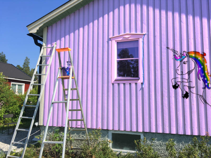 My freshly painted house (unicorn version)