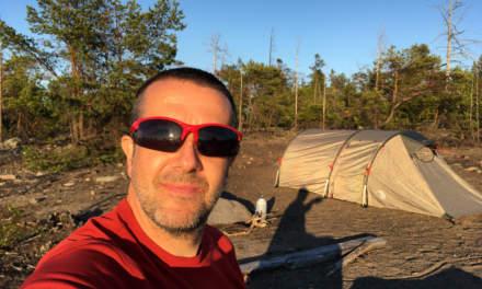 Sunny selfie on the island Gåsören