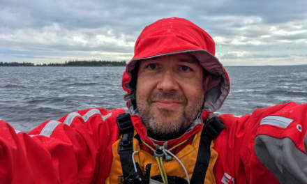 Rainy selfie in the kayak on the Baltic Sea.