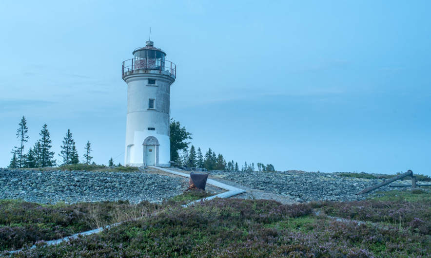The Lighthouse of Stora Fjäderägg in the night