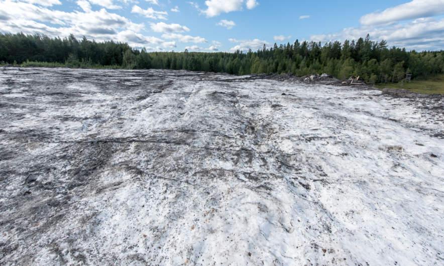 Skellefteå snow dump in summer I