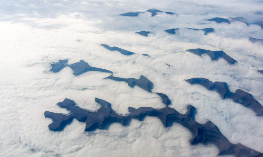 Faroe islands from the plane