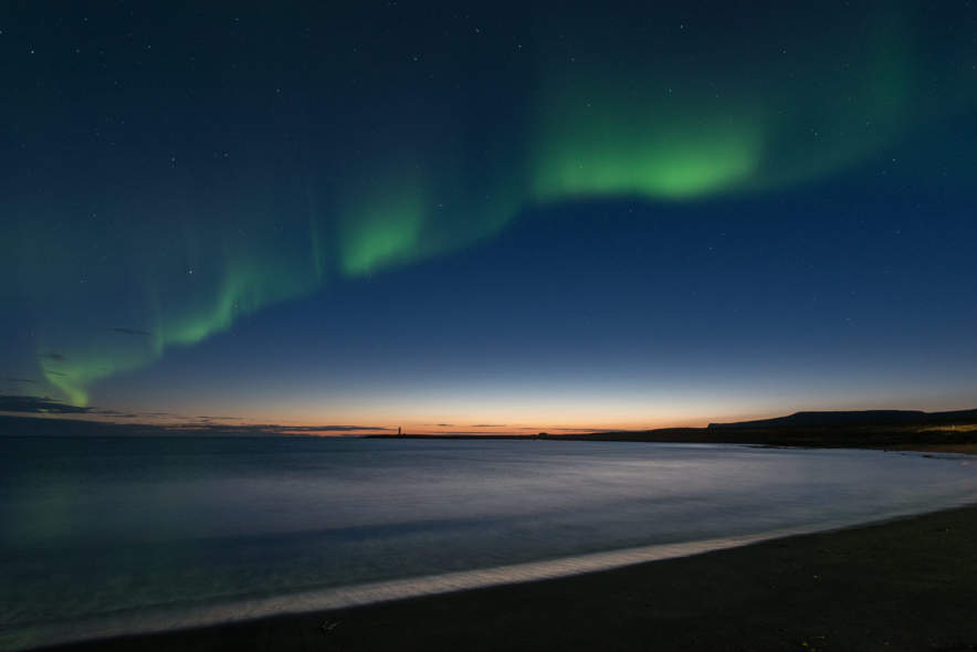 Polar lights above Kópasker