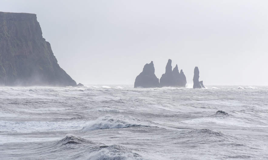 Reynisdrangar in the distance